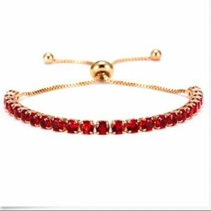 ❤️gorgeous ruby rhinestone adjustable bracelet